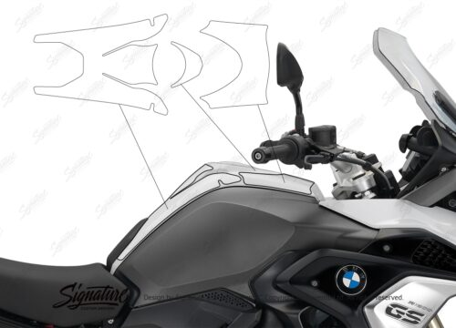 BPRF 3239 BMW R1200GS LC 2017 self healing Top Tank Protective Film 02