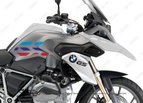 BSTI 3224 BMW R1200GS LC 2013 2016 Alpine White GS Lines Tank Stickers Msport 02