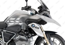 BSTI 3224 BMW R1200GS LC 2013 2016 Alpine White GS Lines Tank Stickers White 02