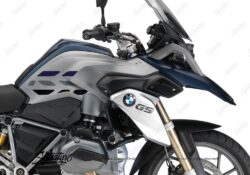 BSTI 3228 BMW R1200GS LC 2013 2016 Frozen Dark Blue GS Lines Tank Stickers Dark Blue Silver Black 02
