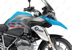 BSTI 3229 BMW R1200GS LC 2013 2016 Fire Blue GS Lines Tank Stickers Msport 02