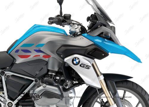 BSTI 3229 BMW R1200GS LC 2013 2016 Fire Blue GS Lines Tank Stickers Msport 02