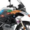 BKIT 3247 BMW R1200GS LC 2017 Alpine White The Globe Series Multicolour Stickers Kit 02