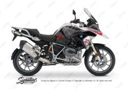 BKIT 3251 BMW R1200GS LC 2017 Alpine White Spike Series Red Grey Stickers Kit 01