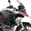 BKIT 3251 BMW R1200GS LC 2017 Alpine White Spike Series Red Grey Stickers Kit 02