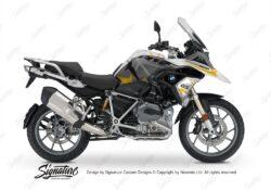 BKIT 3253 BMW R1200GS LC 2017 Alpine White Spike Series Yellow Grey Stickers Kit 01