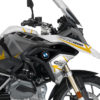 BKIT 3253 BMW R1200GS LC 2017 Alpine White Spike Series Yellow Grey Stickers Kit 02