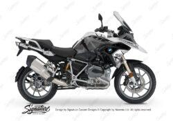 BKIT 3254 BMW R1200GS LC 2017 Alpine White Spike Series Black Grey Stickers Kit 01
