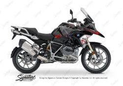 BKIT 3255 BMW R1200GS LC 2017 Black Storm Metallic Spike Series Red Grey Stickers Kit 01