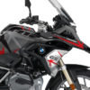 BKIT 3255 BMW R1200GS LC 2017 Black Storm Metallic Spike Series Red Grey Stickers Kit 02