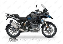BKIT 3256 BMW R1200GS LC 2017 Black Storm Metallic Spike Series Blue Grey Stickers Kit 01