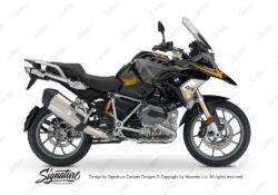 BKIT 3257 BMW R1200GS LC 2017 Black Storm Metallic Spike Series Yellow Grey Stickers Kit 01