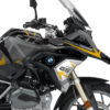 BKIT 3257 BMW R1200GS LC 2017 Black Storm Metallic Spike Series Yellow Grey Stickers Kit 02