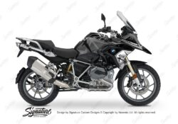 BKIT 3258 BMW R1200GS LC 2017 Black Storm Metallic Spike Series Black Grey Stickers Kit 01