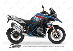 BKIT 3259 BMW R1200GS LC 2017 Lupine Blue Metallic Rallye Spike Series Blue Red Stickers Kit 01