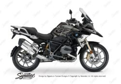 BKIT 3260 BMW R1200GS LC 2017 Iced Chocolate Metallic Exclusive Spike Series Black Grey Stickers Kit 01