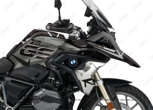 BKIT 3260 BMW R1200GS LC 2017 Iced Chocolate Metallic Exclusive Spike Series Black Grey Stickers Kit 02