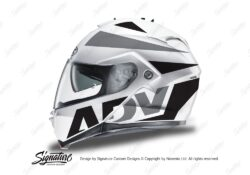 HEL 3266 HJC IS MAX II Helmet White Vivo Series Black Grey Stickers Kit 01
