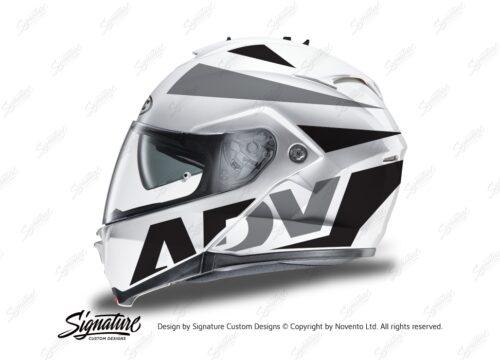 HEL 3266 HJC IS MAX II Helmet White Vivo Series Black Grey Stickers Kit 01