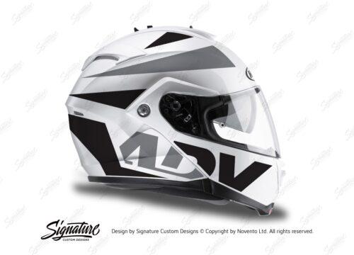 HEL 3266 HJC IS MAX II Helmet White Vivo Series Black Grey Stickers Kit 02