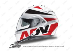 HEL 3267 HJC IS MAX II Helmet White Vivo Series Red Black Stickers Kit 01