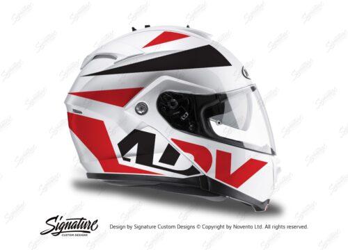HEL 3267 HJC IS MAX II Helmet White Vivo Series Red Black Stickers Kit 02