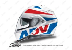 HEL 3268 HJC IS MAX II Helmet White Vivo Series Red Blue Stickers Kit 01
