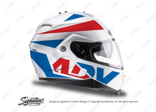 HEL 3268 HJC IS MAX II Helmet White Vivo Series Red Blue Stickers Kit 02