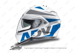 HEL 3269 HJC IS MAX II Helmet White Vivo Series Blue Grey Stickers Kit 01