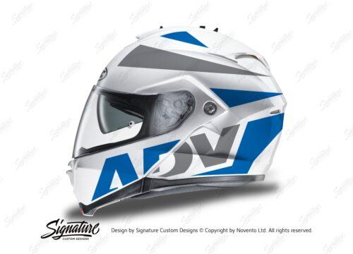 HEL 3269 HJC IS MAX II Helmet White Vivo Series Blue Grey Stickers Kit 01