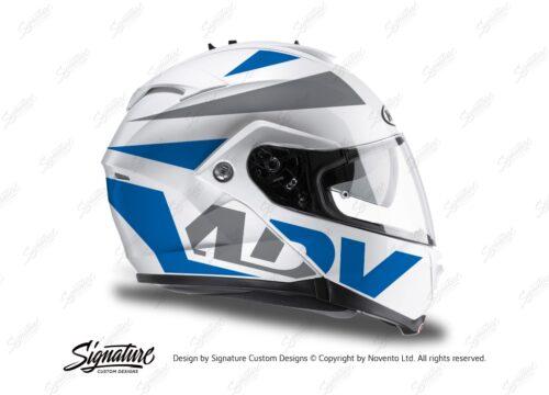 HEL 3269 HJC IS MAX II Helmet White Vivo Series Blue Grey Stickers Kit 02