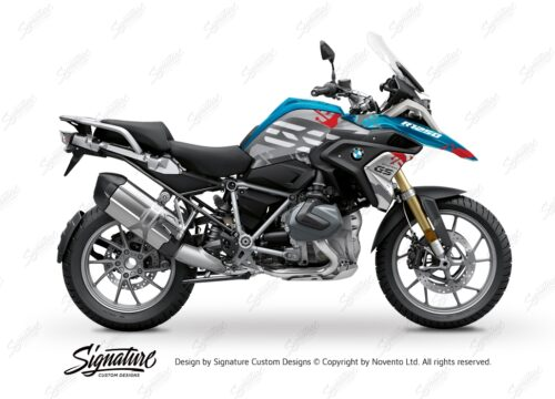 BKIT 3302 BMW R1250GS Cosmic Blue Safari Red Grey Stickers Kit 01