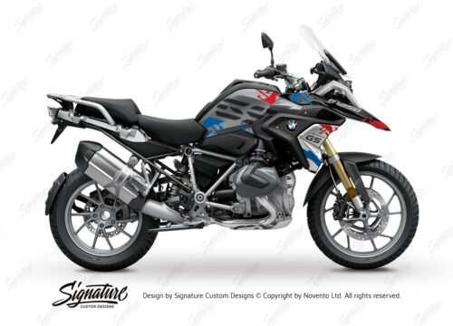 BKIT 3303 BMW R1250GS Black Storm Metallic Safari Red Blue Stickers Kit 01