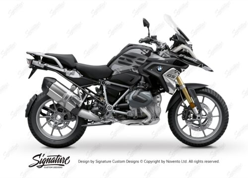 BKIT 3305 BMW R1250GS Black Storm Metallic Safari Grey Variations Stickers Kit 01