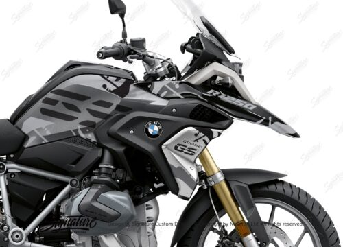 BKIT 3305 BMW R1250GS Black Storm Metallic Safari Grey Variations Stickers Kit 02