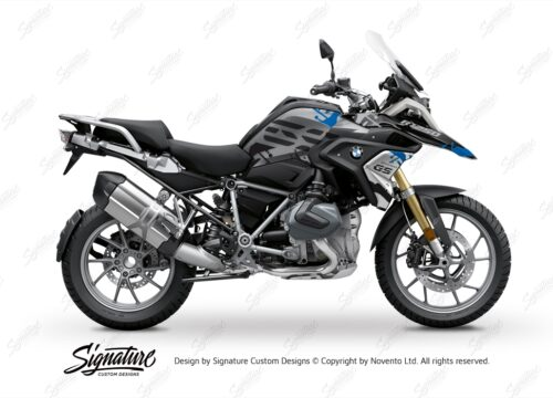 BKIT 3306 BMW R1250GS Black Storm Metallic Safari Blue Black Stickers Kit 01