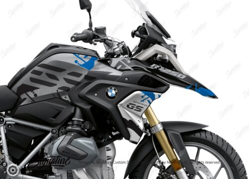 BKIT 3306 BMW R1250GS Black Storm Metallic Safari Blue Black Stickers Kit 02