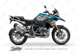 BKIT 3310 BMW R1250GS Cosmic Blue Spike Red Black Stickers Kit 01