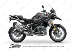 BKIT 3320 BMW R1250GS Black Storm Metallic Stingray Red Grey Stickers Kit 01
