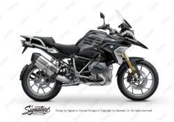 BKIT 3321 BMW R1250GS Black Storm Metallic Stingray Black Grey Stickers Kit 01