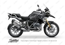 BKIT 3328 BMW R1250GS Black Storm Metallic Vector Grey Stickers Kit 01