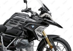 BKIT 3328 BMW R1250GS Black Storm Metallic Vector Grey Stickers Kit 02