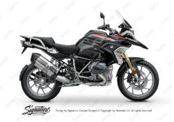 BKIT 3333 BMW R1250GS Black Storm Metallic Vivo Red Grey Stickers Kit 01