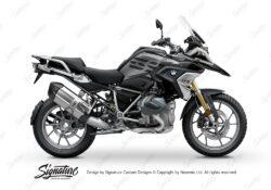 BKIT 3334 BMW R1250GS Black Storm Metallic Vivo Black Grey Stickers Kit 01