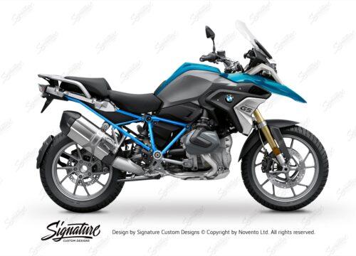 BFS 3338 BMW R1250GS 2019 Cosmic Blue GS Frame Wrap Styling Kit Light Blue 01