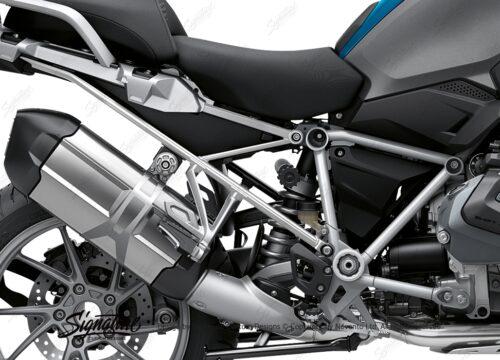 BFS 3338 BMW R1250GS 2019 Cosmic Blue GS Frame Wrap Styling Kit Silver 02