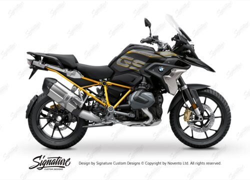 BFS 3339 BMW R1250GS 2019 Style Exclusive GS Frame Wrap Styling Kit Yellow 01