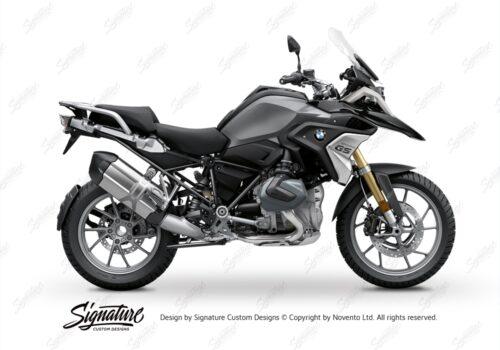 BFS 3342 BMW R1250GS 2019 Black Storm Metallic Pyramid Frame Wrap Styling Kit Black 01
