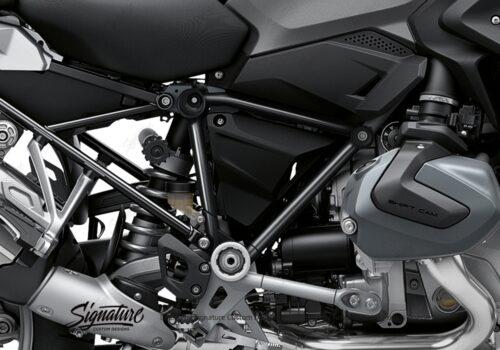 BFS 3342 BMW R1250GS 2019 Black Storm Metallic Pyramid Frame Wrap Styling Kit Black 02