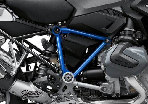 BFS 3342 BMW R1250GS 2019 Black Storm Metallic Pyramid Frame Wrap Styling Kit Cobalt Blue 02